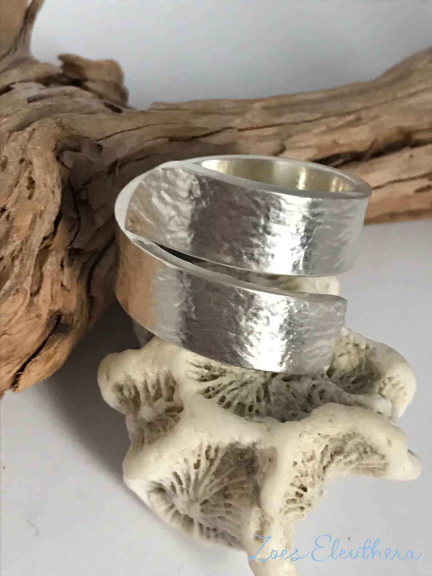 Ring Silber Welle Struktur