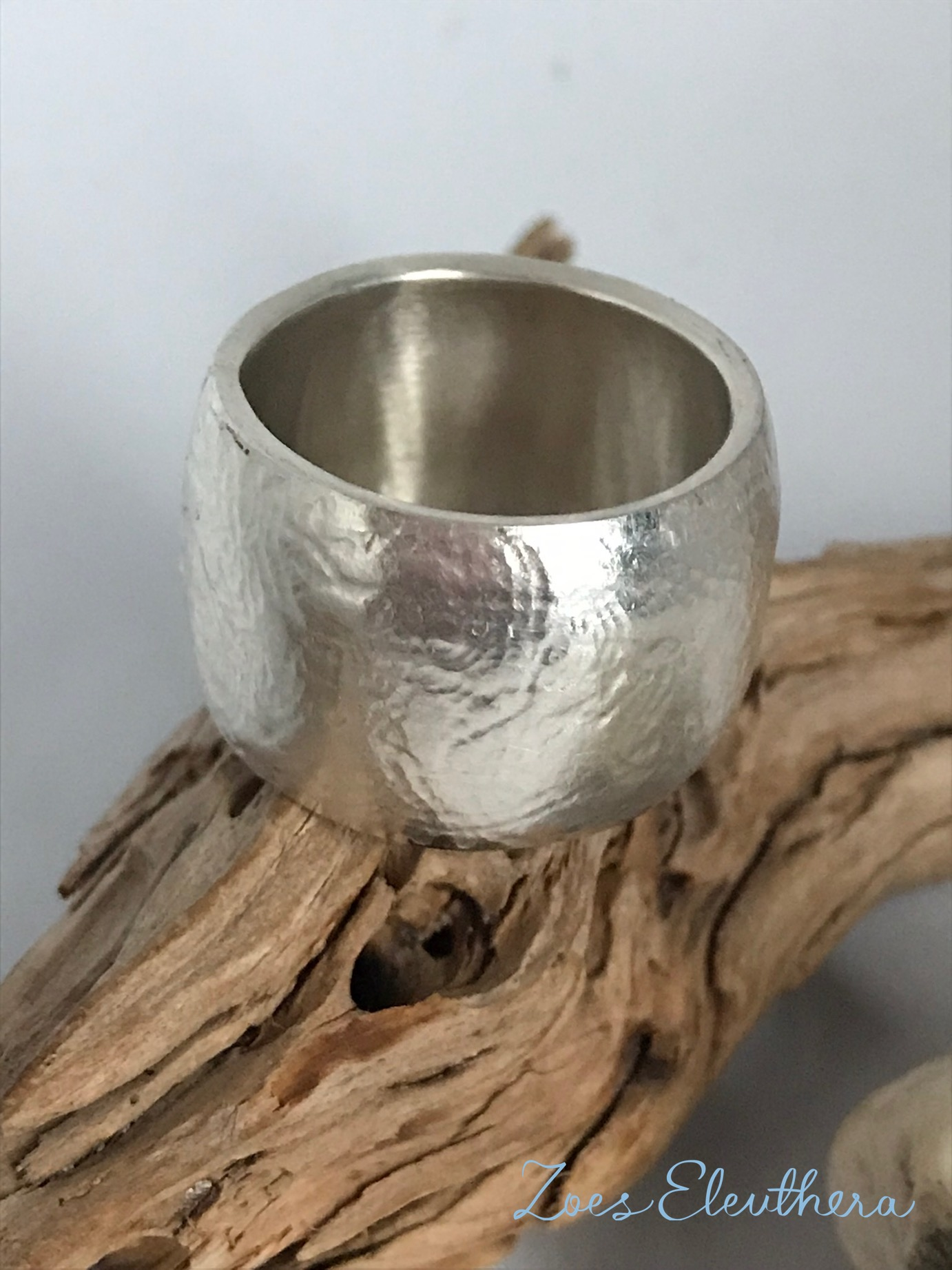 Ring Silber konvex gross