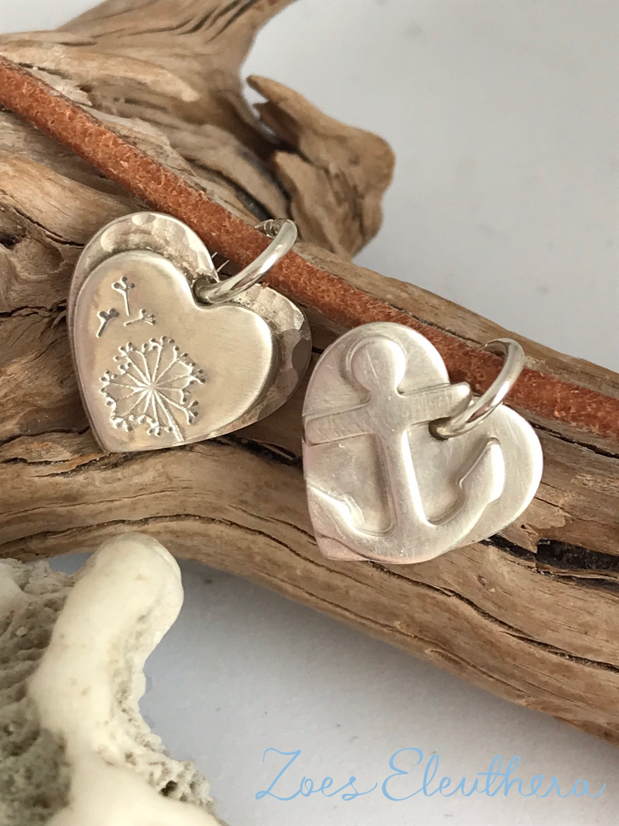 Pendant Silver Heart Anchor Motif