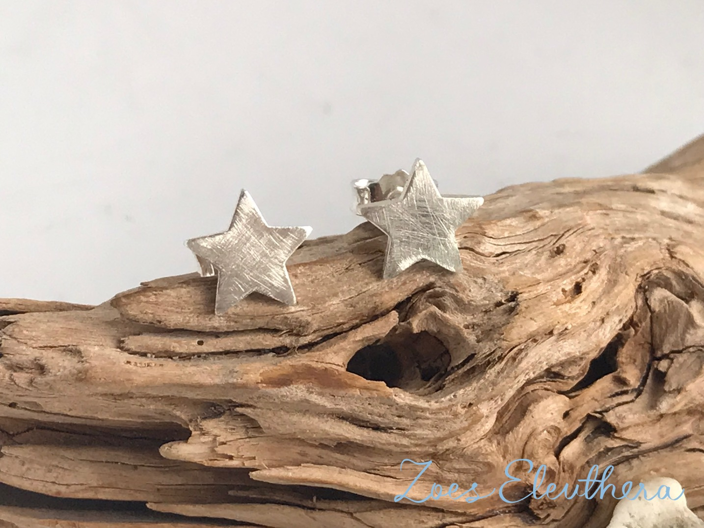 Earrings Silver Star Ice Matt