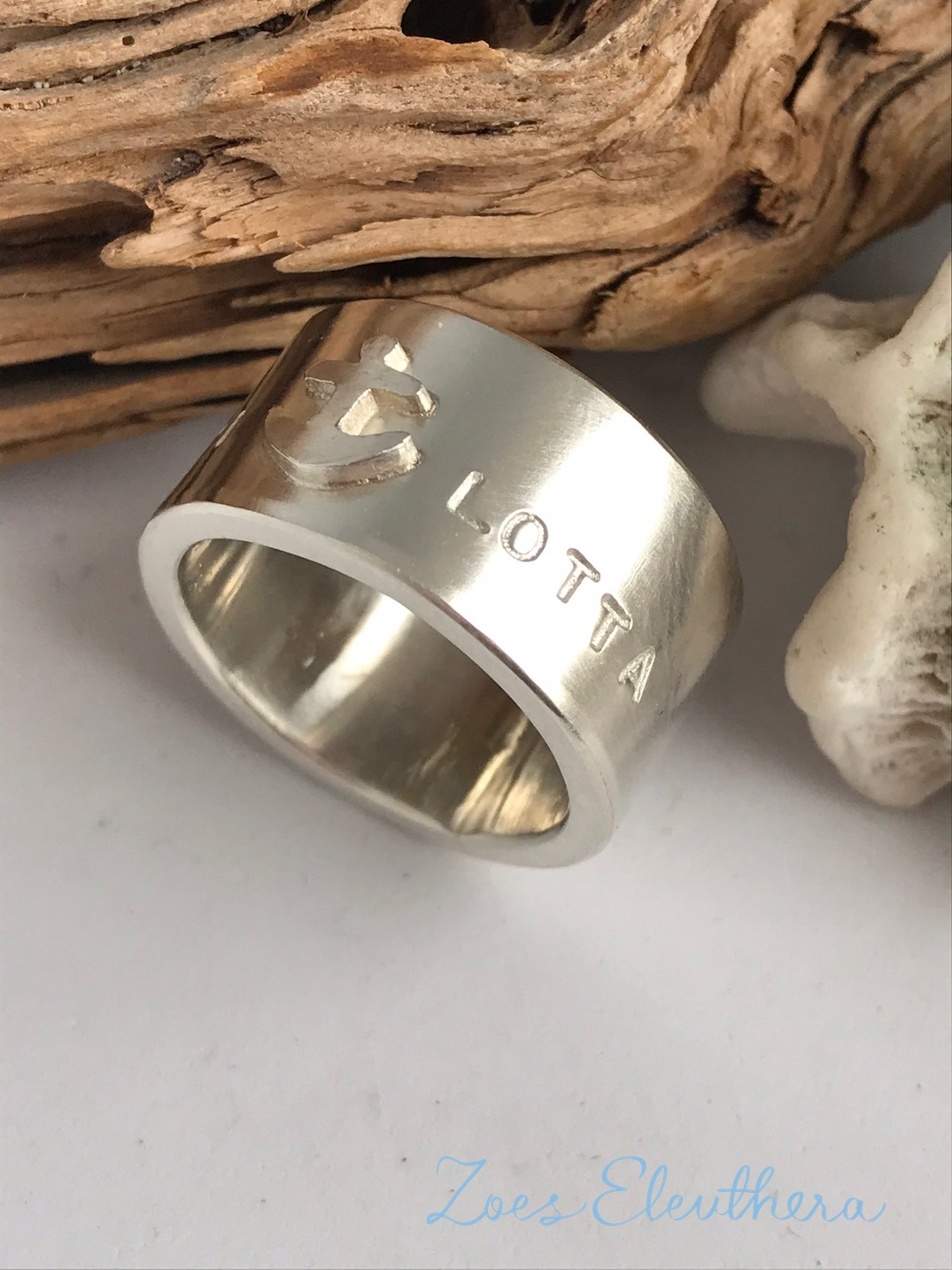 Ring Silver Anchor wide massive