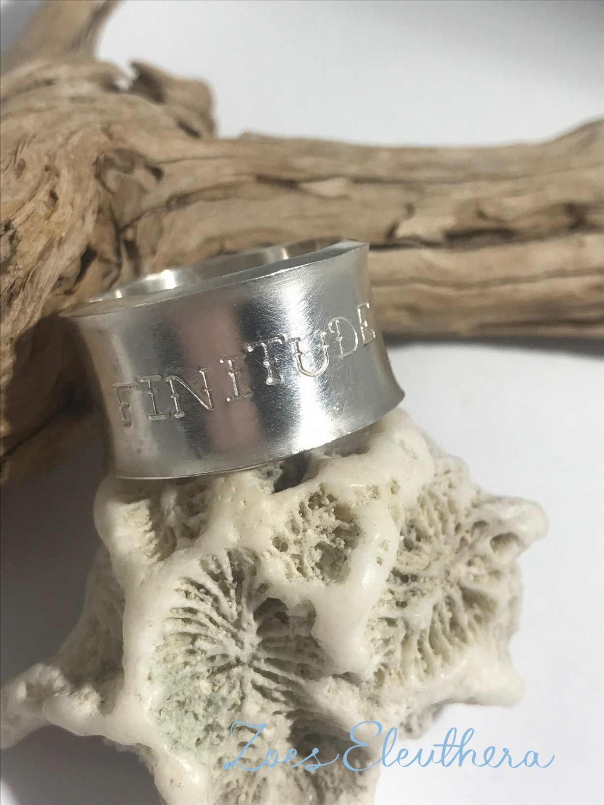 Ring Silver Poetry Stars rough wide