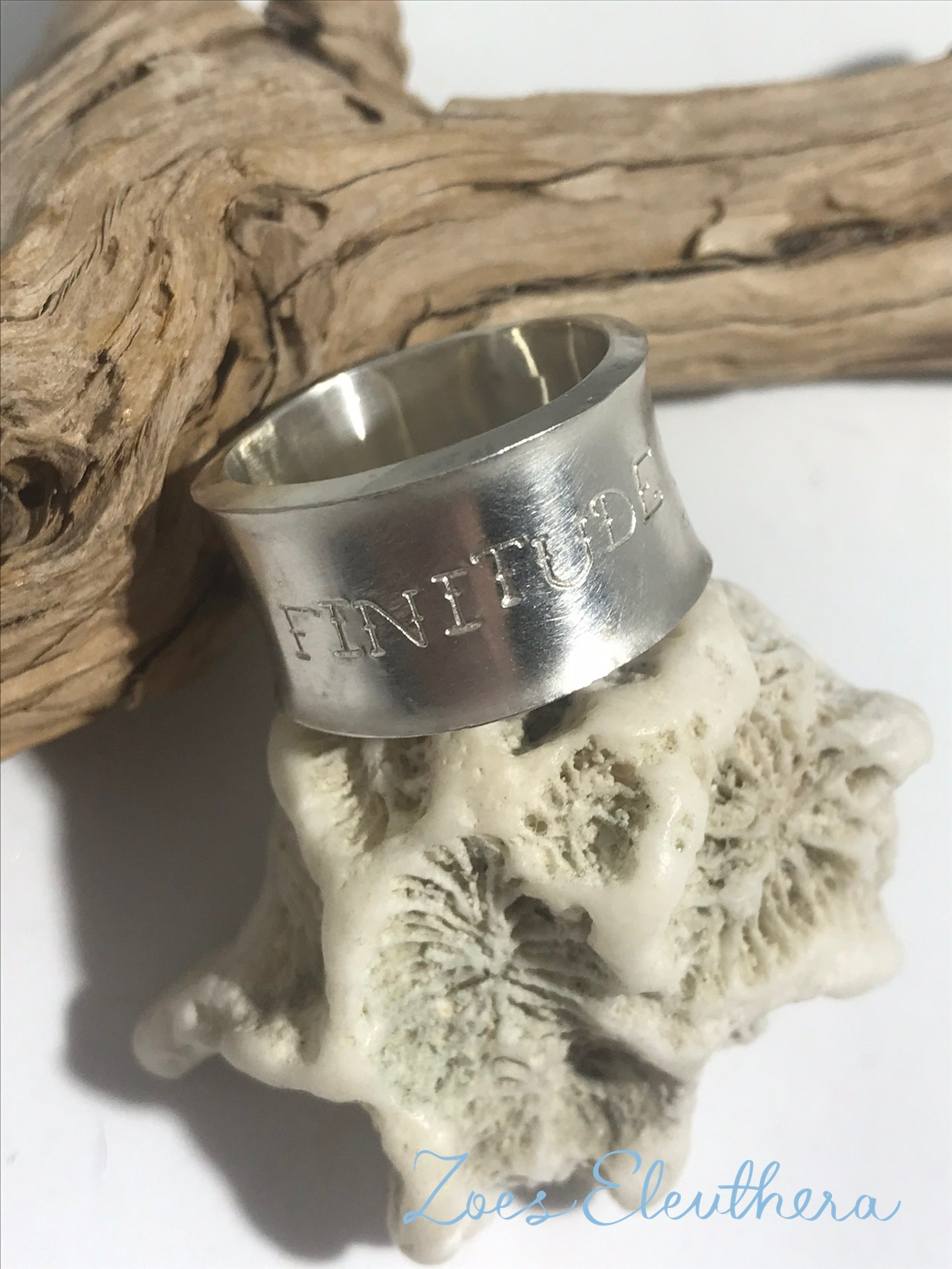 Ring Silver Poetry Stars rough individual