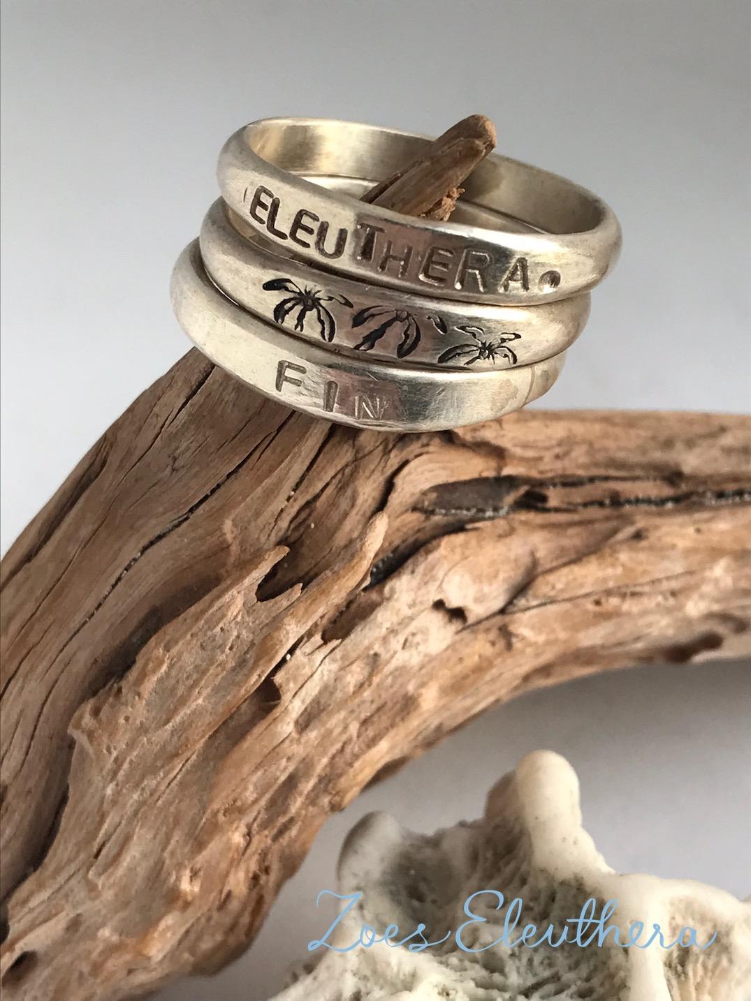 Ring Silber Wort Mantra zart