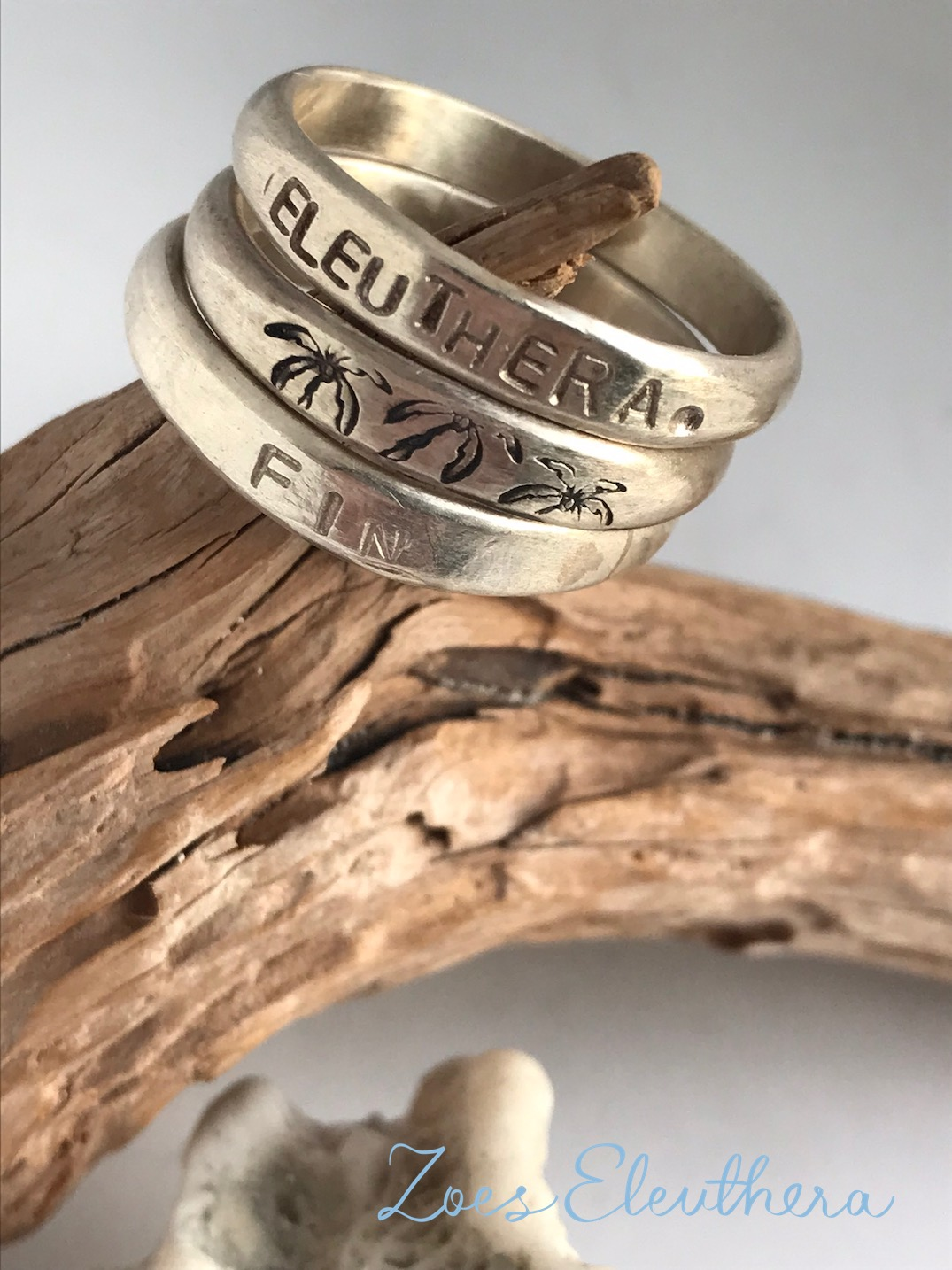Ring Silver Word Mantra