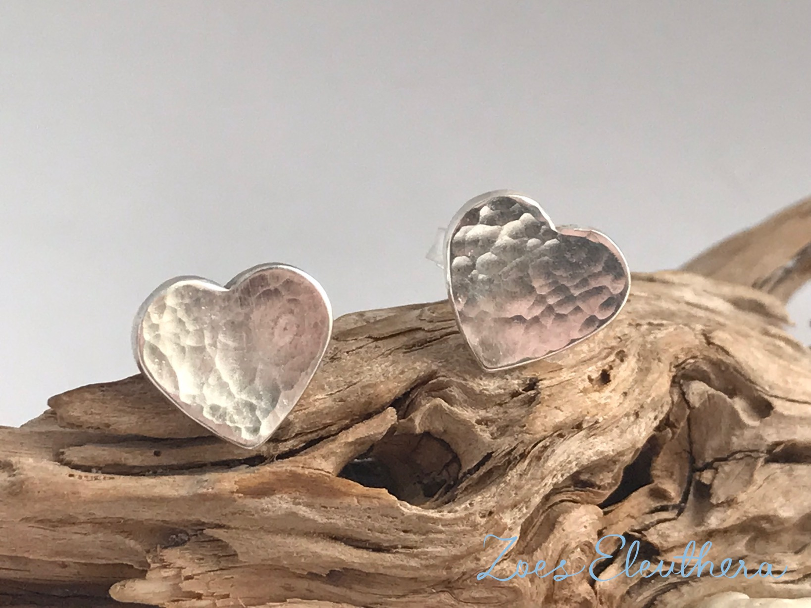 Earrings Silver Heart Pattern Structure