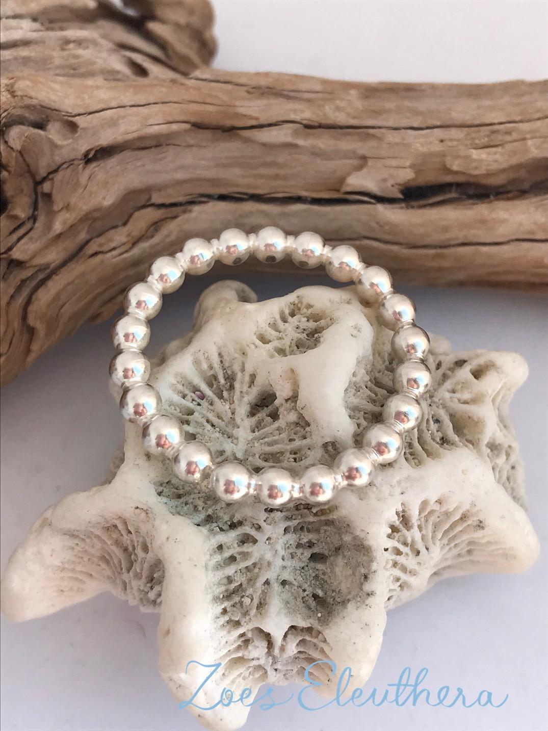Ring Silber Perlen zart