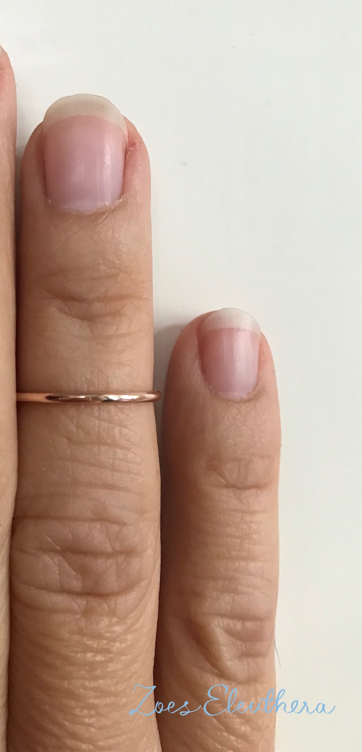 Ring red gold delicate Knuckle Ring