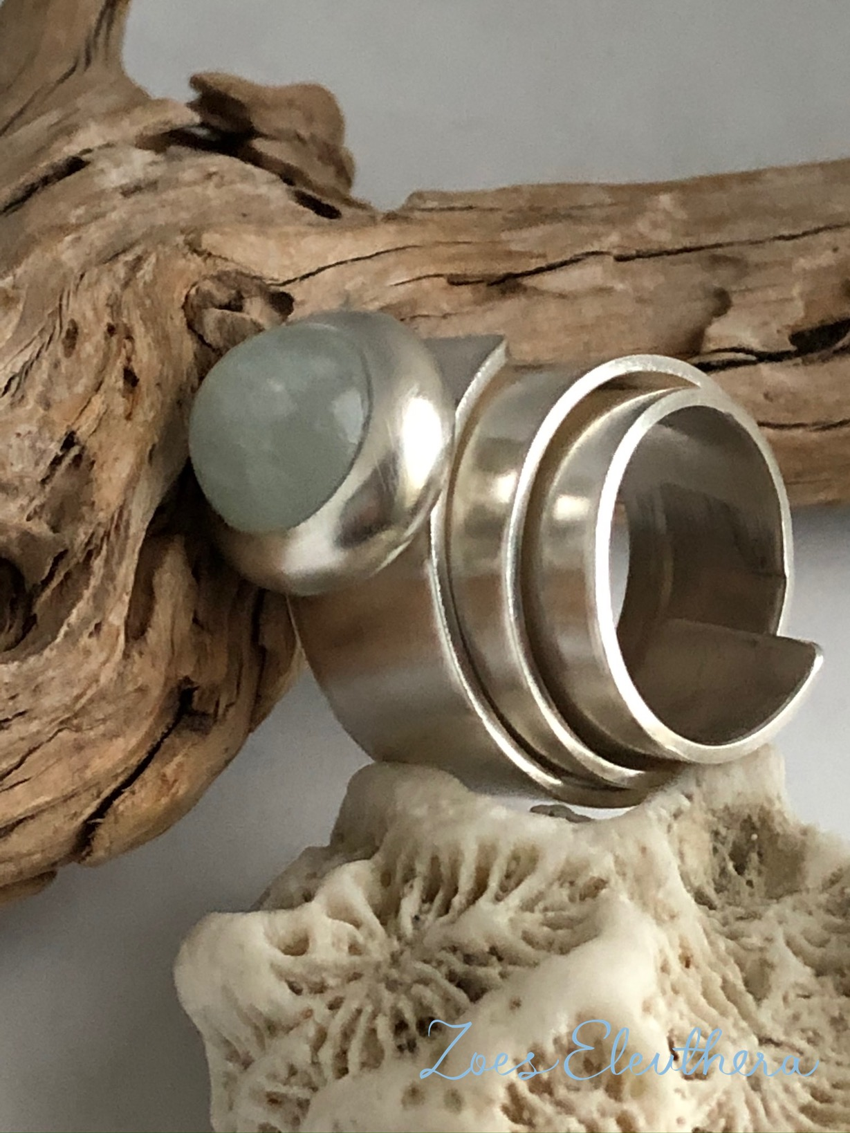 Ring Silber Aquamarin edel